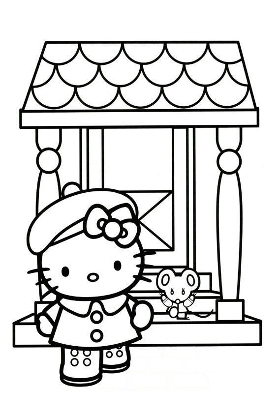 hello kitty coloring pages 4u - photo#17
