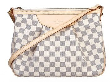 Louis Vuitton Damier Azur Siracusa Pm Messenger Handbag White Messenger Bag.