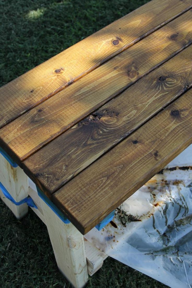 Farmhouse bench woodworking plans woodshop plans - Best 25 Farmhouse Outdoor Benches Ideas On Pinterest Table Bench Bench For Dining Table And Farmhouse Dining Benches