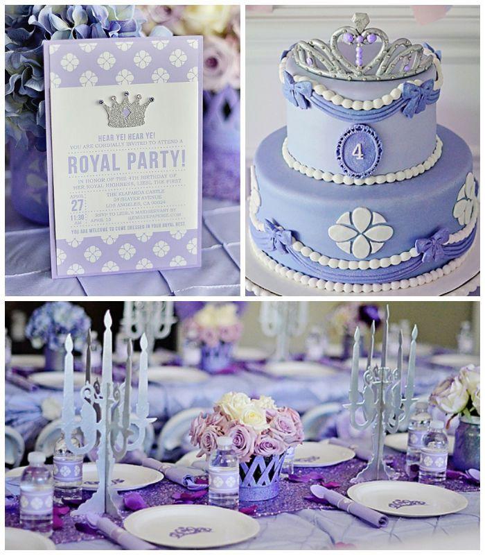 Sofia the First Inspired Princess Party with SO MANY REALLY CUTE IDEAS via Kara's Party Ideas | Cake, decor, cupcakes, favors, printables, a...