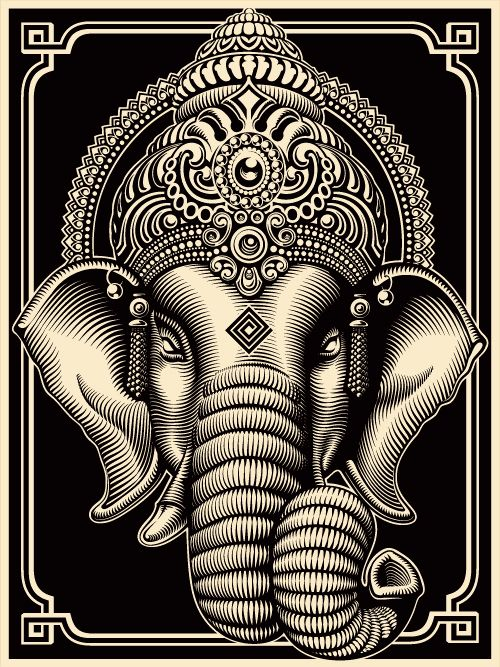 The 'MOVEMENT' Celebrates and Honors the Birthday of 'Lord Ganesha' with the Official drop of the CRYPTIK 'GANESH' PRINT. May He Bestow His Many Blessings Upon All.
