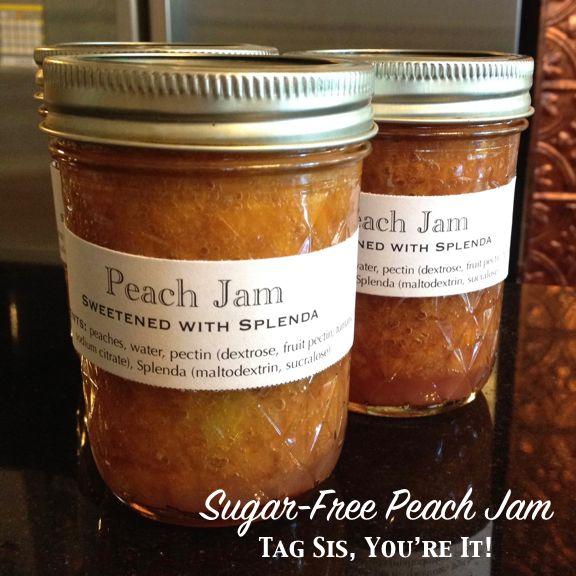 Sugar-Free Peach Jam