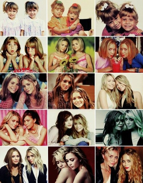 ~Mary Kate & Ashley Olsen. People tell me All the time these two look like Sophia & Olivia...the older pics stress me out...don't want my babies to grow up too fast.