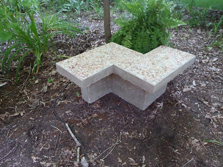 Diy Chevron Inspired Concrete Bench The Garden Frog