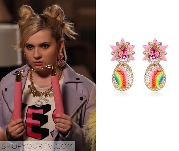 Scream Queens: Season 1 Episode 6 Chanel #5's Rainbow Earrings