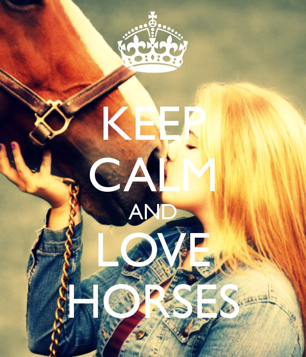 KEEP CALM AND LOVE HORSES - KEEP CALM AND CARRY ON Image Generator - brought to you by the Ministry of Information