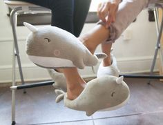 The design itself is enough to get one of these Nari Narwhal USB Heated Slippers for keeping your feet warm during those cold and chilly days.