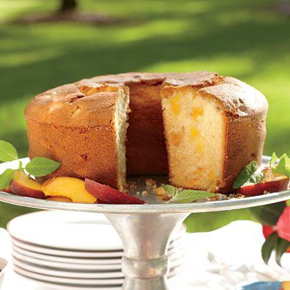 Two-Step Fresh Peach Pound Cake - MyRecipes