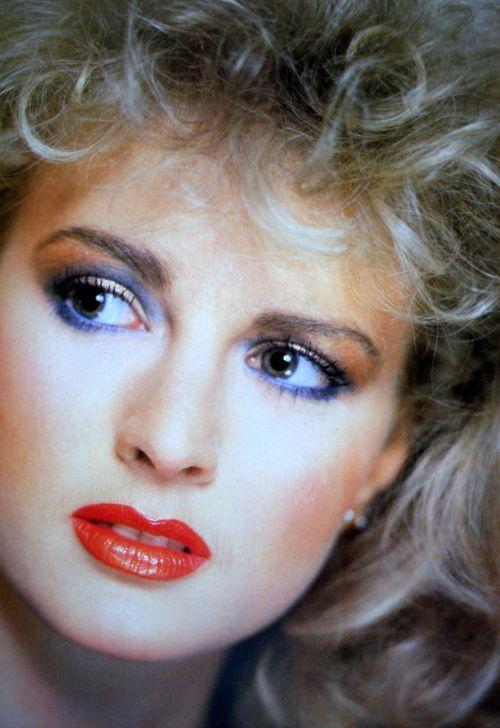 1980's makeup.