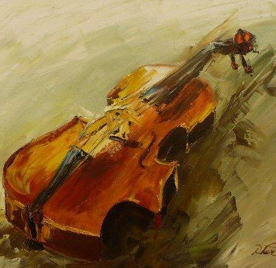 Modern Musical Oil Paintings