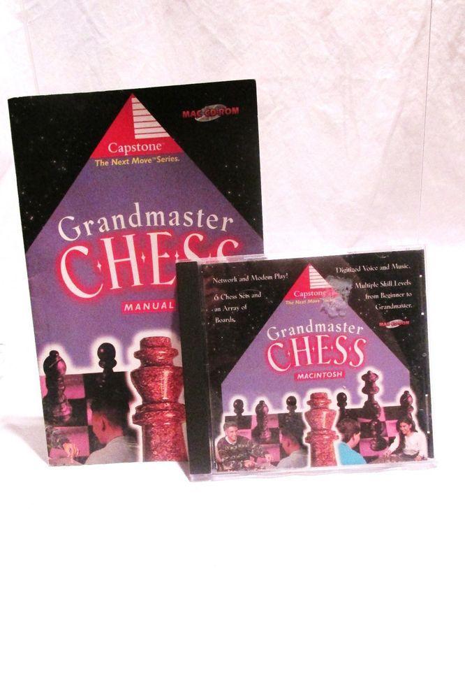 Grandmaster Chess Computer Software with Instructional Manual Macintosh #Capstone