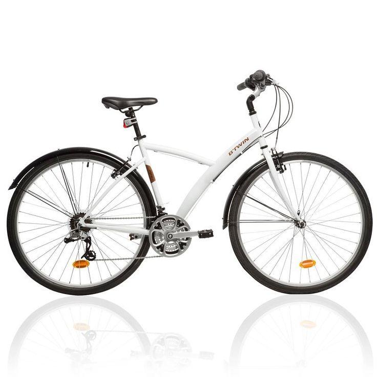 All Bikes Cycling - Original 300 Hybrid Bike - White B'TWIN - Bikes