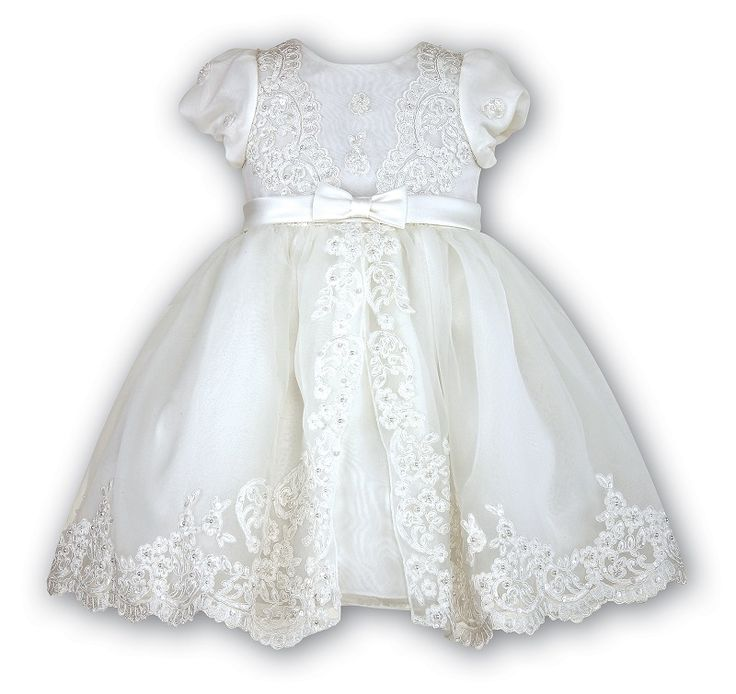 Christening dress with beading