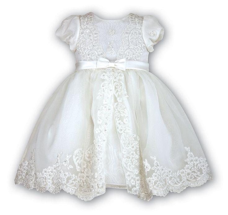 Christening dress with beading