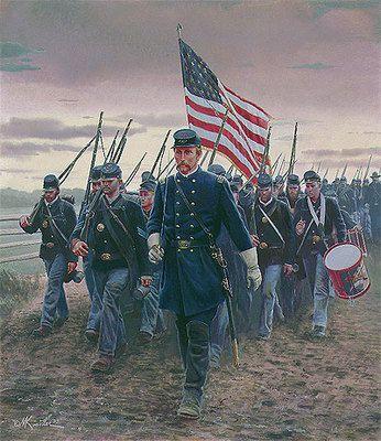 Mort Kunstler: Chamberlain and the 20th Maine; The Battle of Gettysburg July 1, 1863