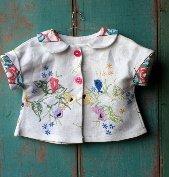 Dolls shirt in retro style made from delightful
