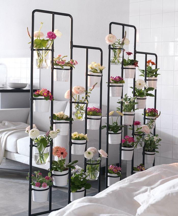 1001 Idees Gain De Place Pour Une Separation De Piece Sans Percage Cloison Decorative Detournement Meuble Ikea Salon Ikea
