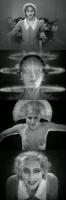 four frames from Metropolis, 1927 (dir. Fritz Lang)
