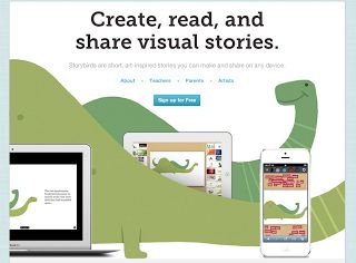 review of Storybird.com by teacher allowing students to create their own multimodal texts
