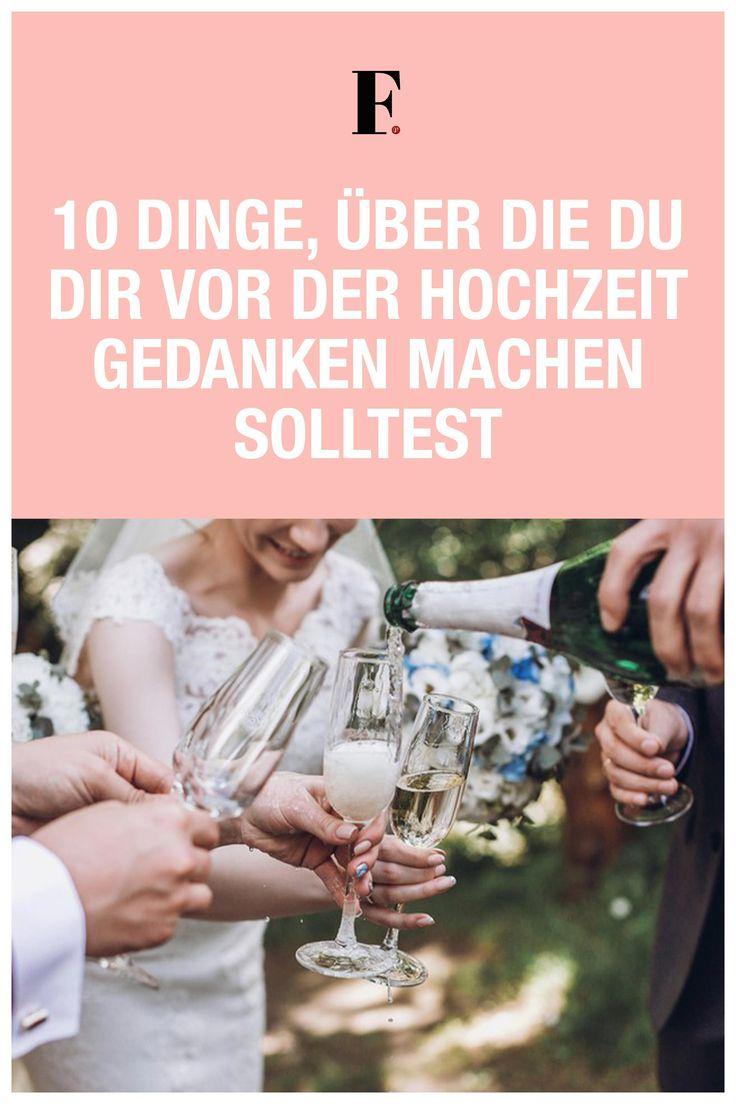 10 Dinge, über die du dir vor der Hochzeit Gedanken machen solltest