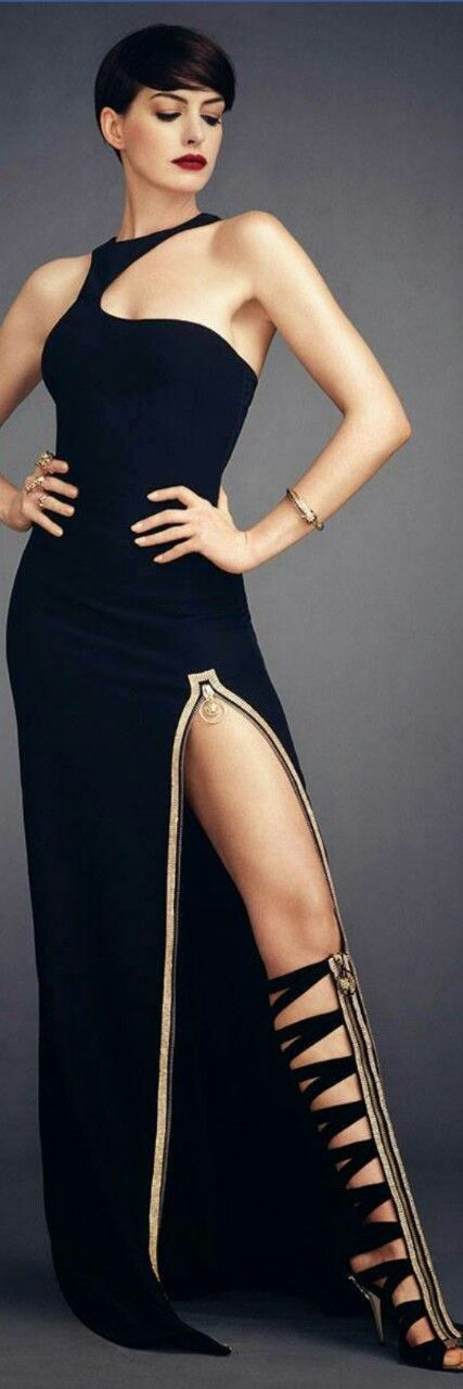Anne Hathaway for Harper's Bazaar Magazine - Versace Resort 2015 - She did that!!