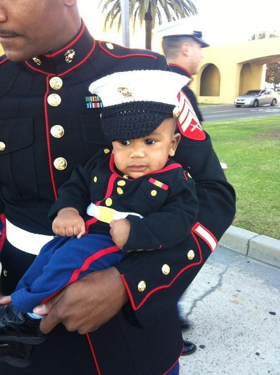 Marine baby USMC dress blues Marine Corps hat you pick the size and colors Hobbyist License 11324