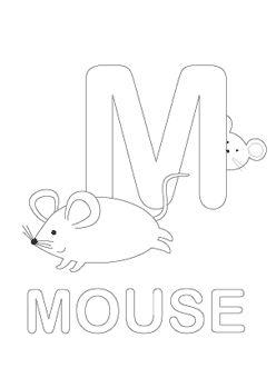 m preschool coloring pages - photo#43