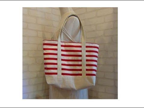 DIY大きなトートバッグの作り方 How to make a big tote bag - YouTube