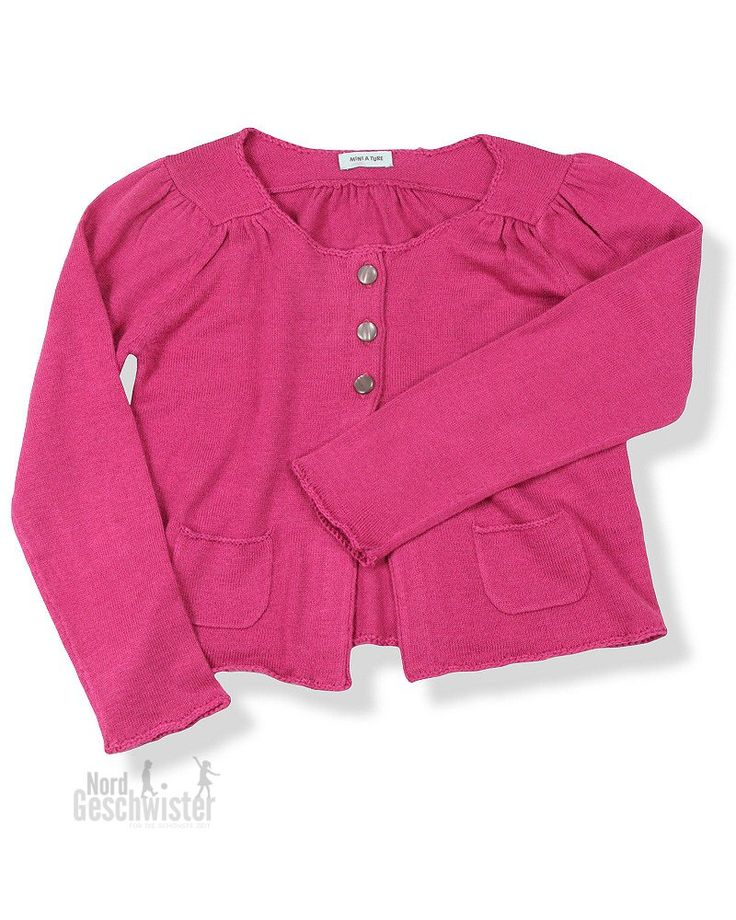 MINI A TURE Kaschmir-Strickjacke Erin in Dusty Magenta