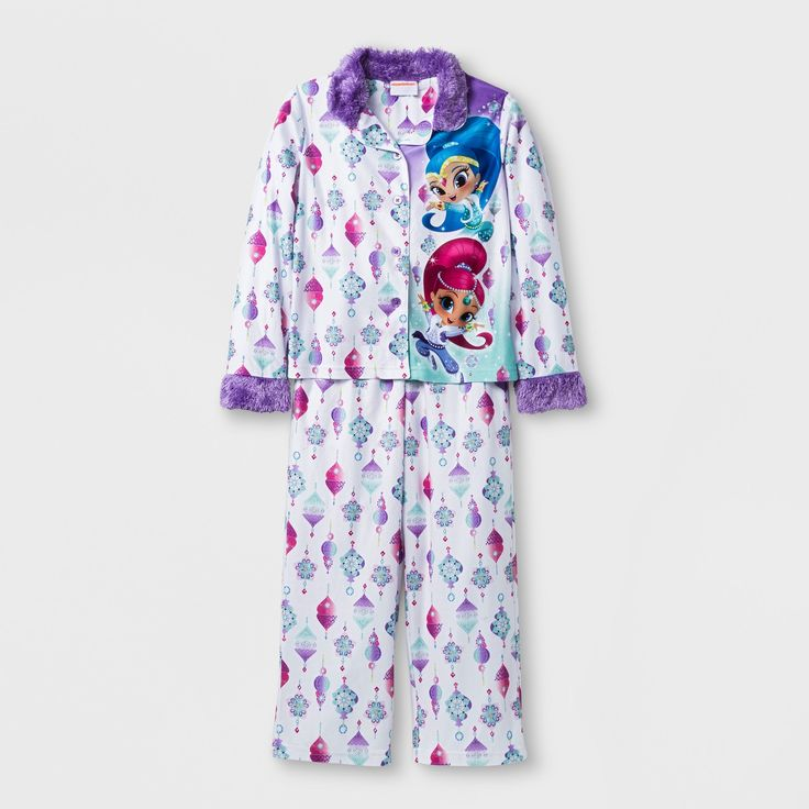 Girls' Shimmer and Shine 2 Piece Pajama Set - Multi-Colored