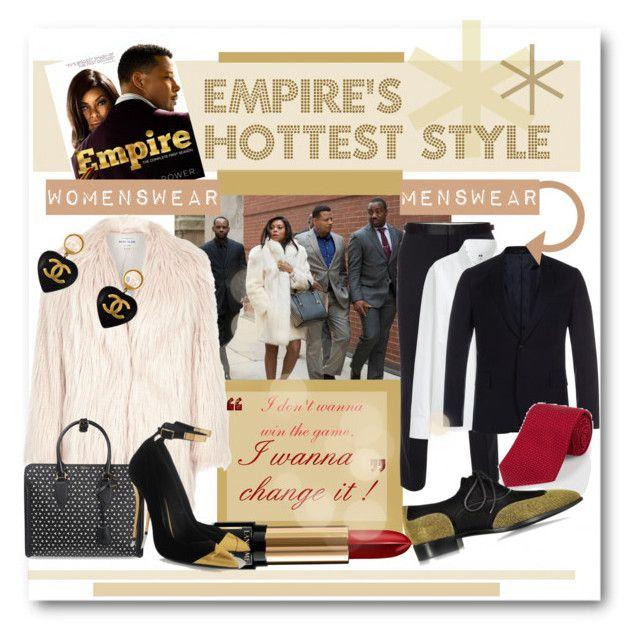 """Empire's Hottest Style"" by katiegillharrison on Polyvore featuring Paul Smith, Uniqlo, Giuseppe Zanotti, River Island, Lancôme, Alexander McQueen, Balmain, Chanel, contestentry and polyvoreeditorial"