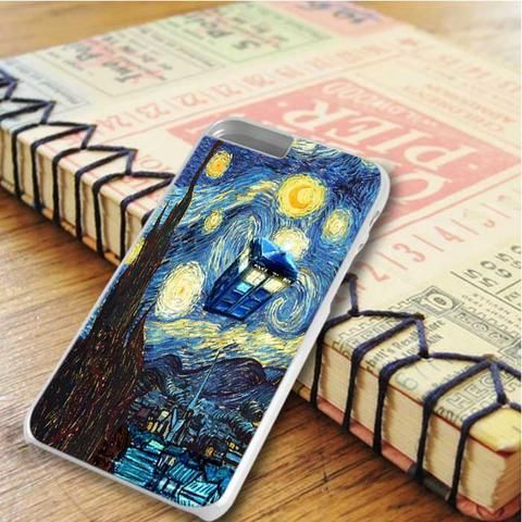 Van Gogh Stary Night Tardis Dr Who iPhone 6 Plus|iPhone 6S Plus Case