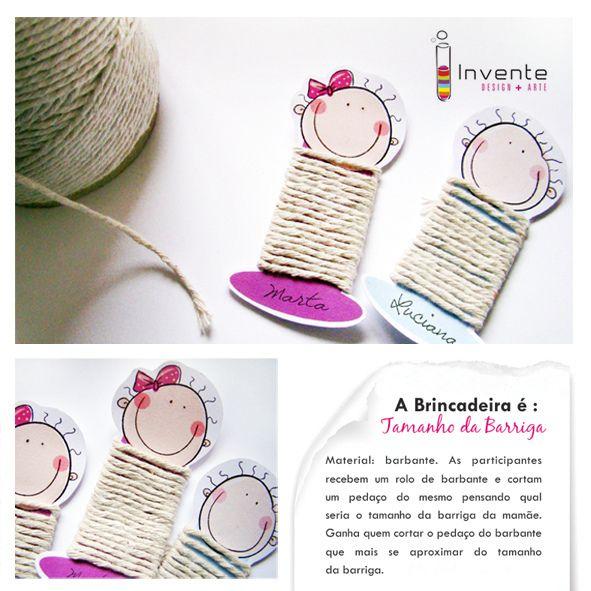 Brincadeira para Chá de Bebê by Invente Design + Arte, via Flickr