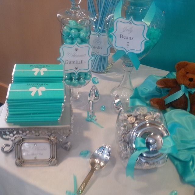 TIFFANY & CO Baby Shower Party Ideas | Photo 8 of 29 | Catch My Party