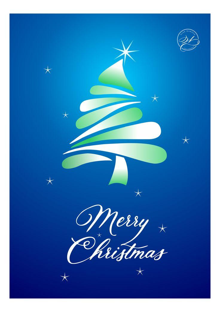 "Design for Christmas greeting cards ""Merry Christmas""  / Designte Weihnachtskarten"
