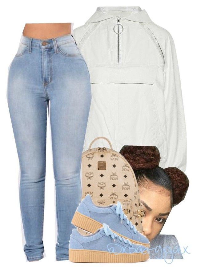 """"""".."""" by xbad-gyalx ❤ liked on Polyvore featuring Alexander Wang and MCM"""