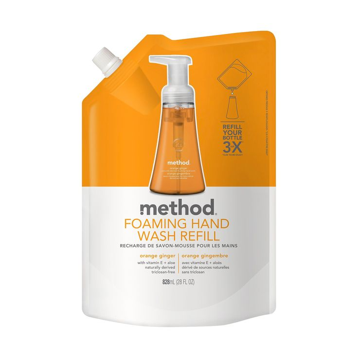 Method Foaming Hand Soap Orange Ginger - 28oz