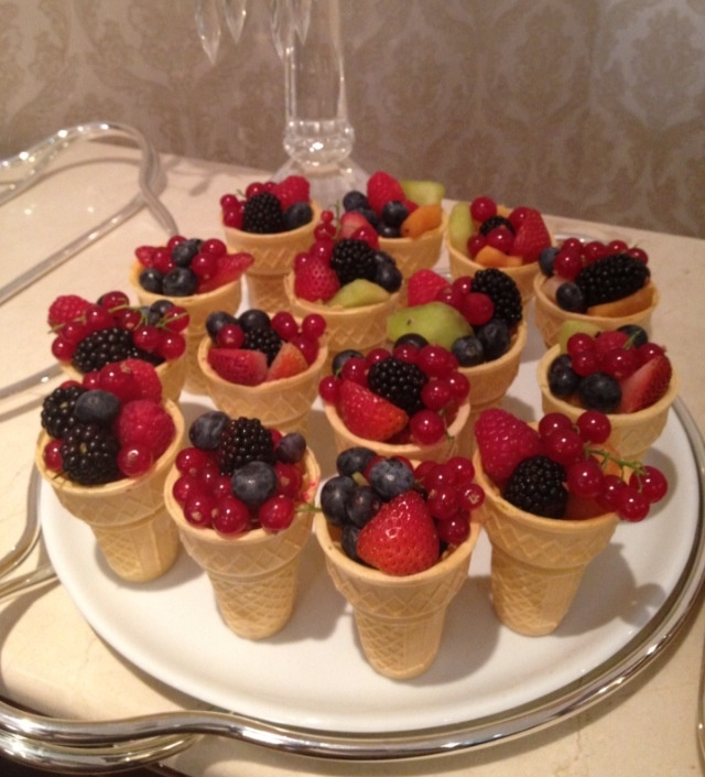 cutler and gross sunglasses Red fruit salad in a biscuit cup  Party planning