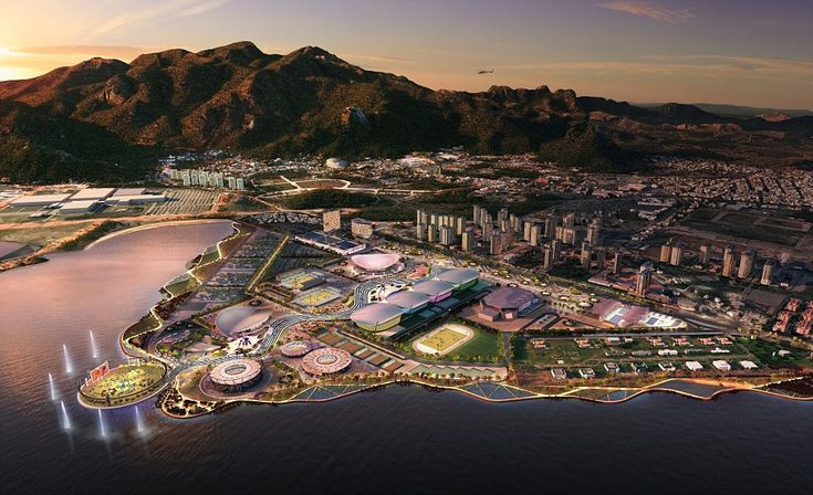 Roll on Rio: Stunning waterfront plans unveiled for Brazil 2016's Olympic Park - designed by British designers who made London such a success