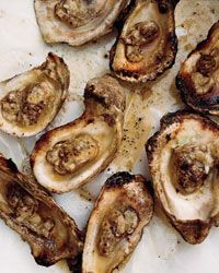 Grilled Oysters with Spicy Tarragon Butter // More Grilled Seafood: http://fandw.me/9lo #foodandwine