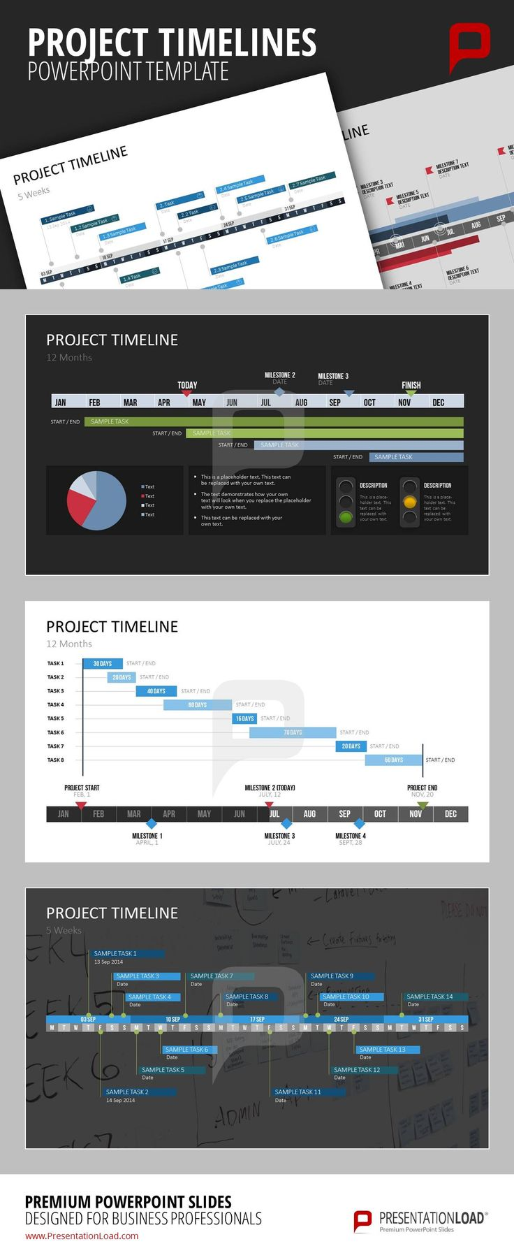 project management ppt slide template