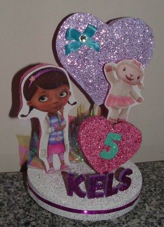 Hey, I found this really awesome Etsy listing at https://www.etsy.com/listing/198426998/doc-mcstuffins-3d-centerpiece-or-cake