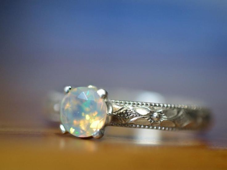 Welo Opal Engagement Ring, Customised Ethiopian Opal Jewellery