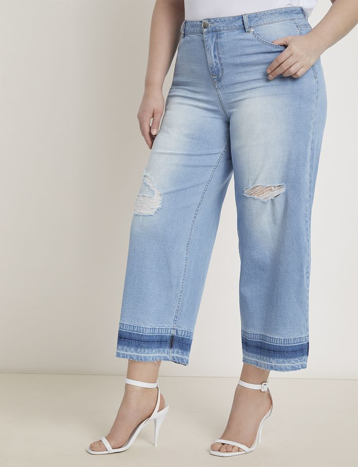 Wide Leg Crop Jean with Release Hem 15