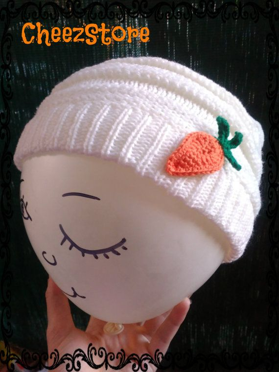 Slouchy beanie funny hat Crochet carrot Great gift by CheezStore
