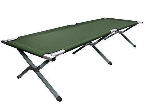 VIVO Cot, Green Fold Up Bed, Folding, Portable For Camping, Military Style W/Bag (COT-V01) | Sleeping Bags Store