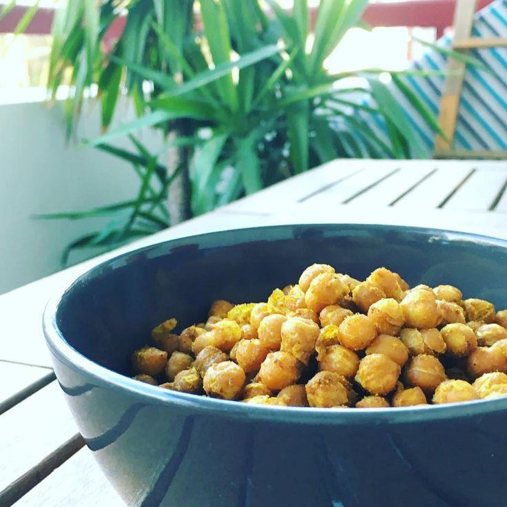 Recette pour apéro vegan et healthy : pois chiches aux épices