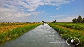 Textures Irrigation canal background 20806 | Textures - BACKGROUNDS & LANDSCAPES - NATURE - Rivers & streams | Sketchuptexture