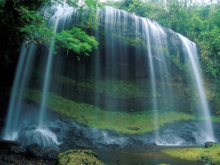 To me this is peaceful and would love to just sit under a waterfall
