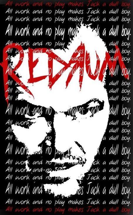 Shining cover-poster art random find, Jack Torrance, Redrum